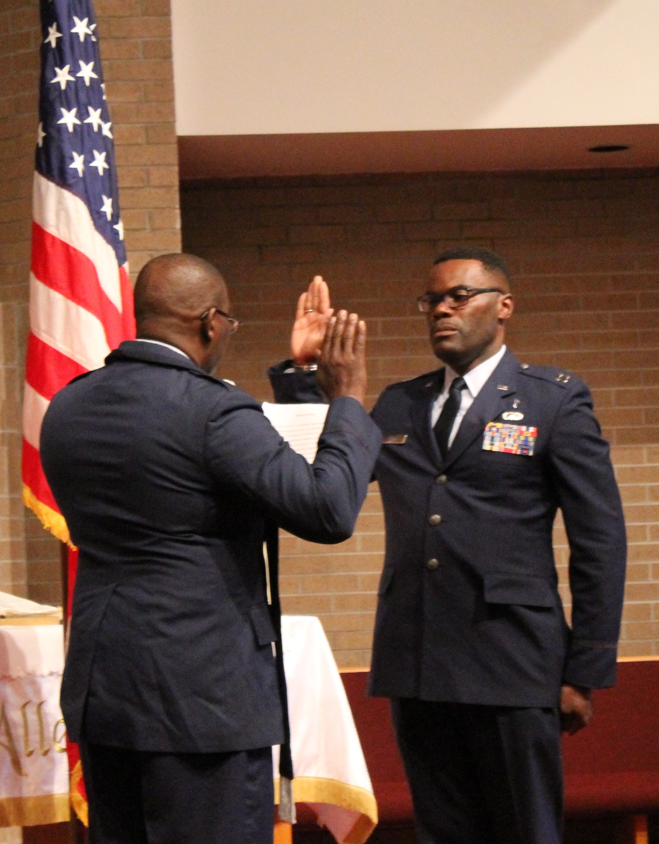 Evangelical church alliance international major brown right above and below with officiator chaplain lieutenant colonel bill burrell usaf retired xflitez Images